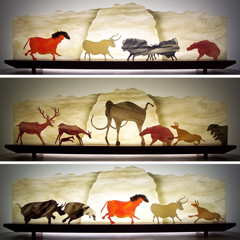 Carnival of the Cave Animals Glasscape Lighting Sculpture