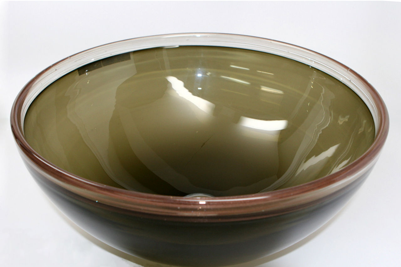 Picture of Blown Glass Sink - Light Olive Bronze