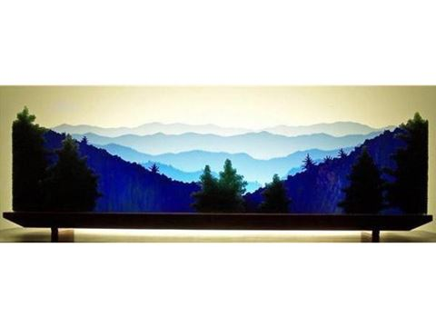 The Great Smoky Mountains Glasscape Lighting Sculpture