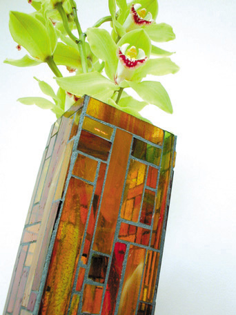 Picture of Autumn Handcrafted Glass Mosaic Vase