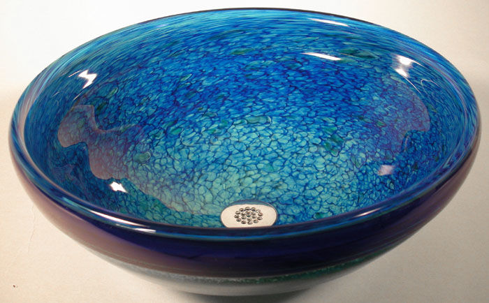 Picture of Blown Glass Sink | Hydrangea Petals
