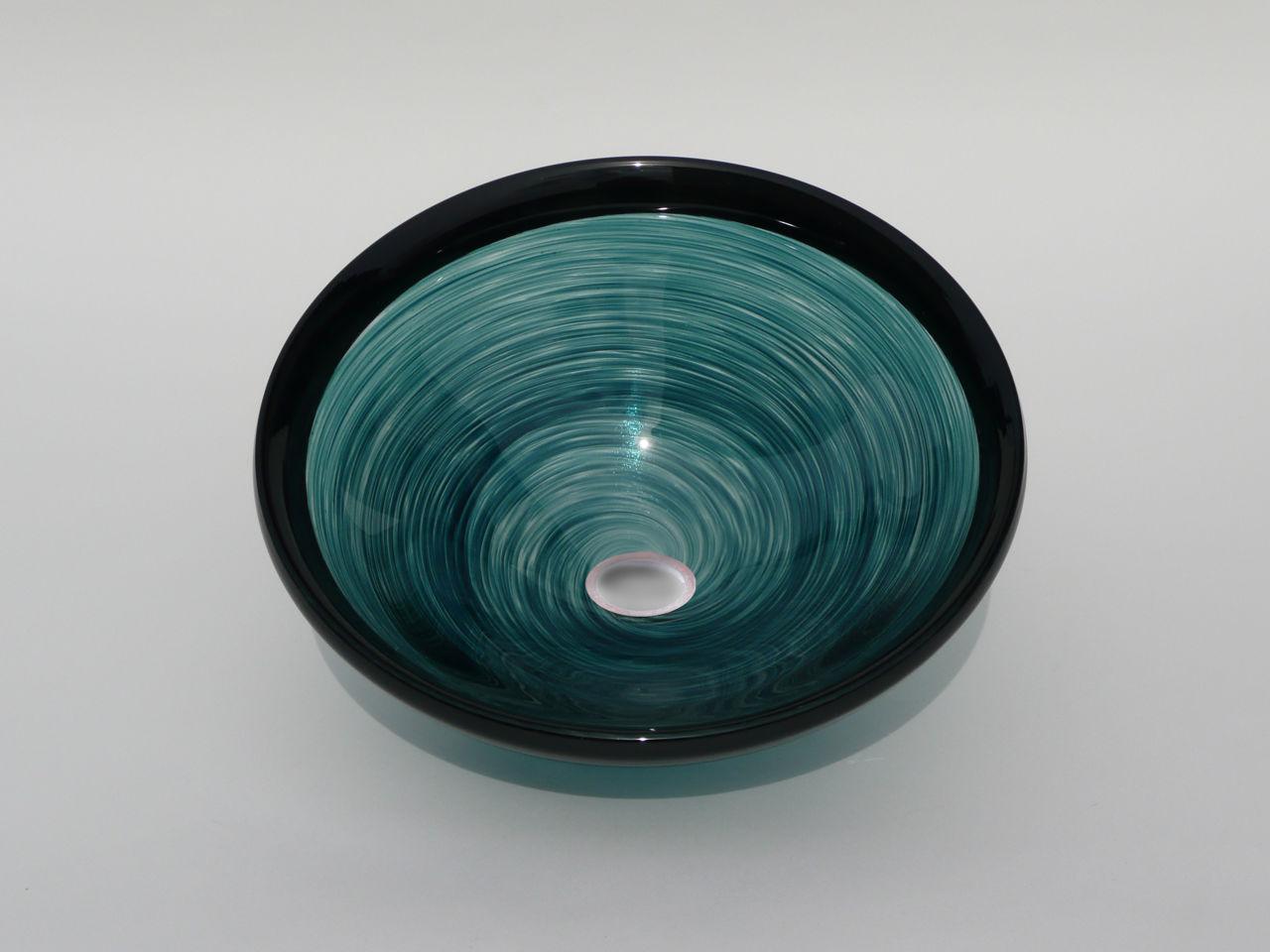 Blown Glass Sink | Jade Swirl