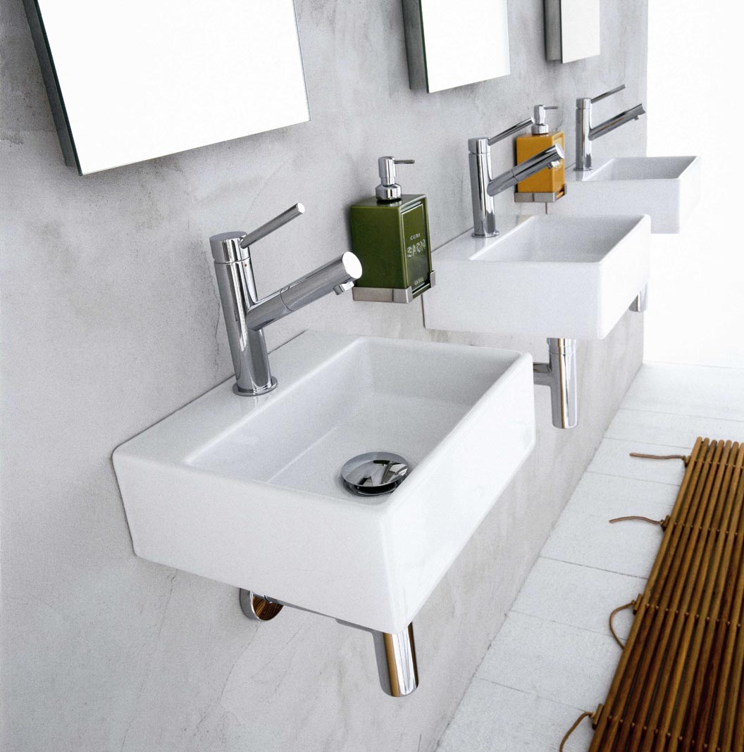 "Picture of Quarelo 13"" Italian White Ceramic Sink"