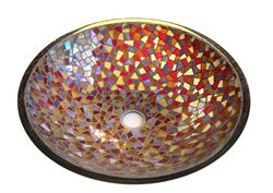 Picture of Cathedral Glass Mosaic Sink
