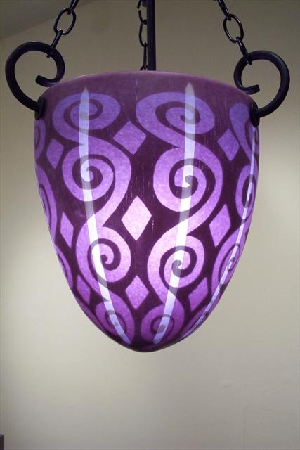 Picture of Pendant Light   Plum Spiral
