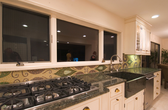 Picture of Glass Mosaic Backsplash