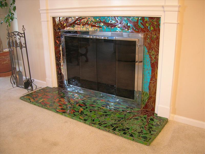 Picture of Enchanted Forest Fireplace Surround