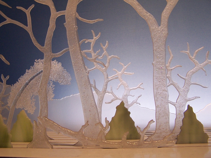 Picture of Winter Apples Glasscape Lighting Sculpture