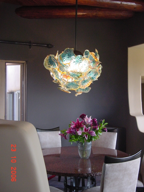 Picture of Blown Glass Chandelier - Flower Ball