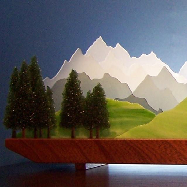 Picture of Sierra Glasscape Lighting Sculpture
