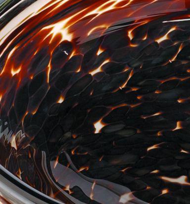 Picture of Blown Glass Sink | Dark Tortoise Splash