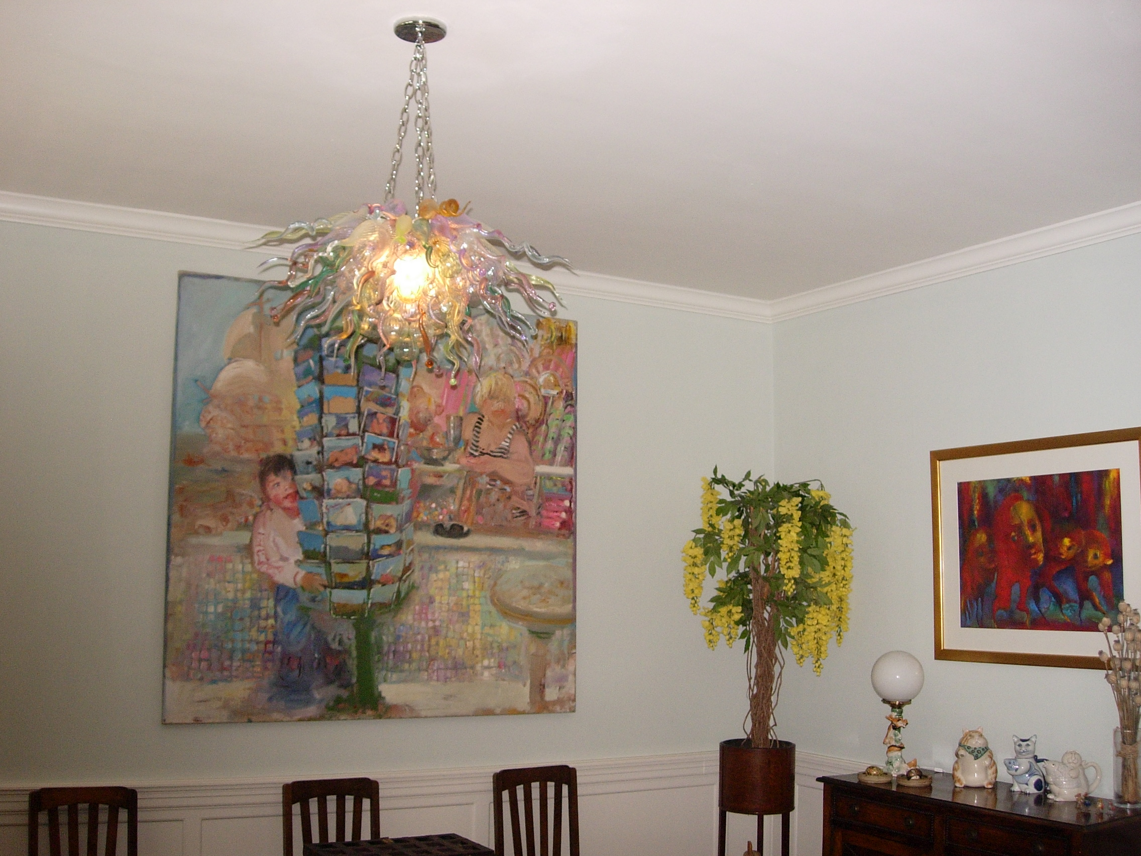Picture of Blown Glass Chandelier 243