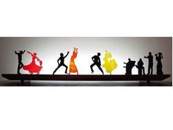 Flamenco I Glasscape Lighting Sculpture