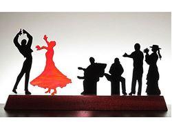 Flamenco II Glasscape Lighting Sculpture