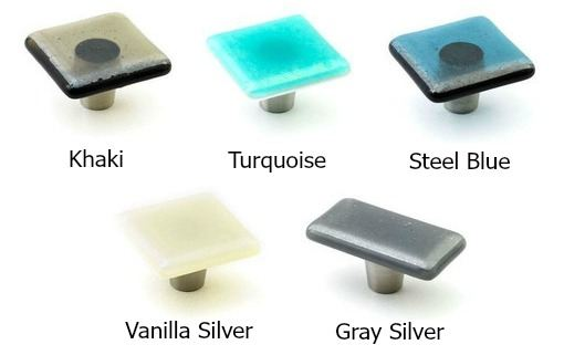 Picture of Iridescent Glass Cabinet Knobs - 3 color options