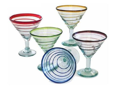 Spiral Classic Cocktail or Margarita Glass