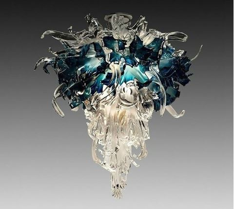 Aquas Blown Glass Chandelier