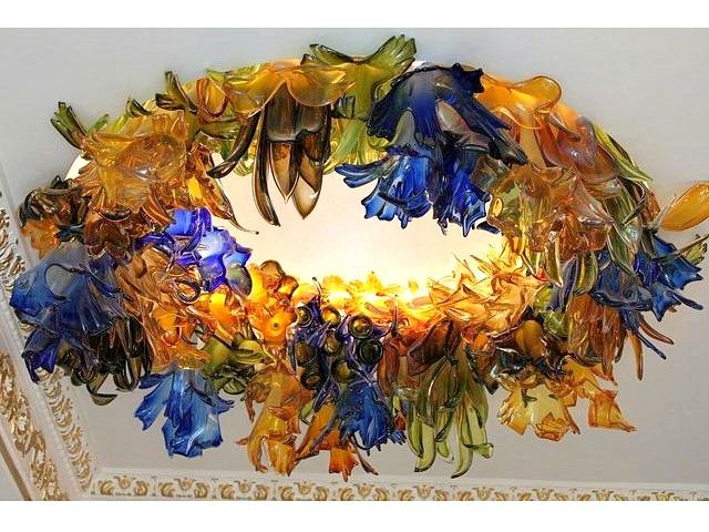 Picture of Botanica Custom Blown Glass Chandelier