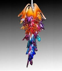 Corona Blown Glass Chandelier