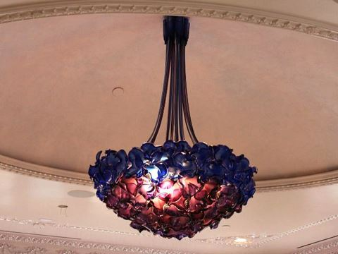 Empire Blown Glass Chandelier