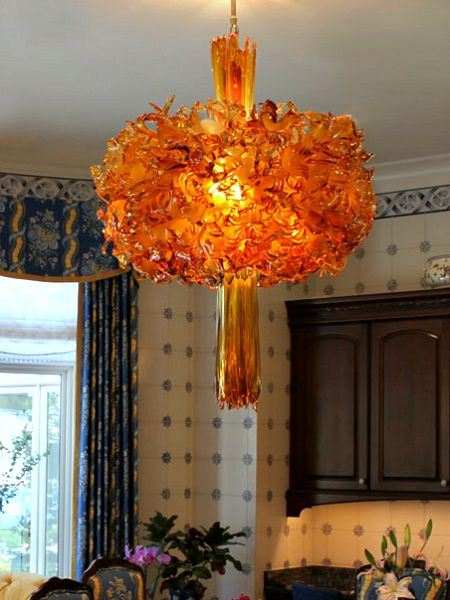 Picture of Quasar Custom Blown Glass Chandelier