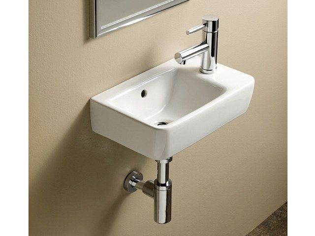 Picture of Bissonnet Comprimo 40/50 Italian Ceramic Sink with Right-Side Faucet