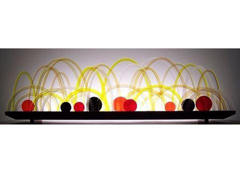Citrine Glasscape Lighting Sculpture