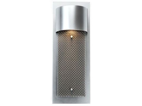 Short Mesh Panel Outdoor Cover Sconce