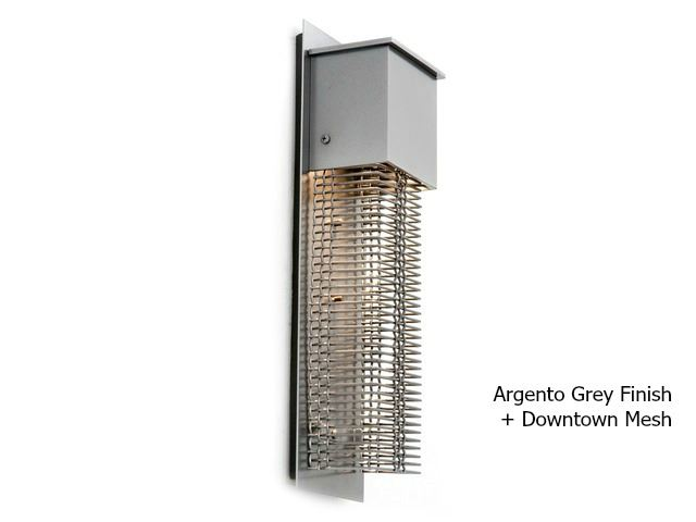 Picture of Short Square Mesh Outdoor Cover Sconce