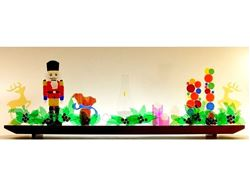 Picture of Holiday Mantlepiece Glasscape Lighting Sculpture
