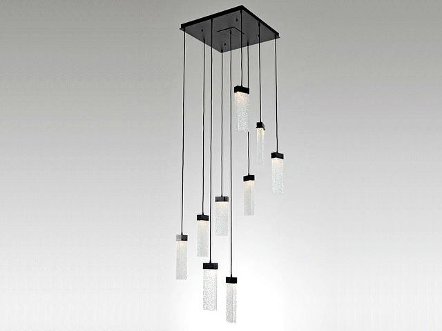 Picture of Parallel Collection Square Waterfall Pendant Chandelier 9 or 12 pc