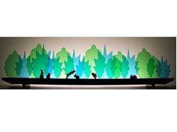 Bunny Rumpus Glasscape Lighting Sculpture