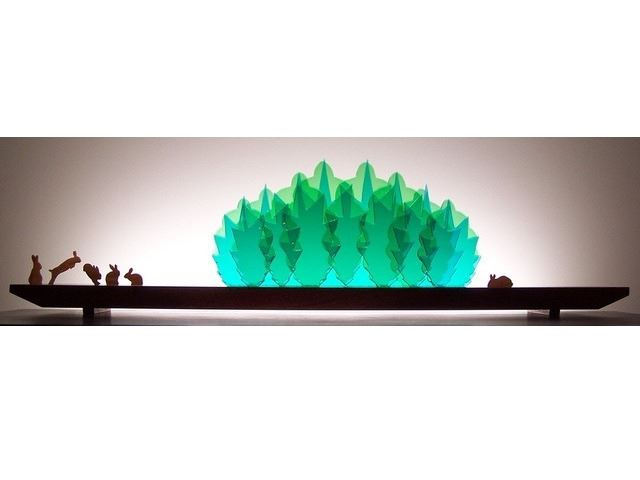 Picture of Bunny Rumpus Glasscape Lighting Sculpture
