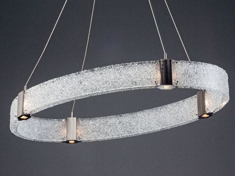Parallel Collection Oval Chandelier