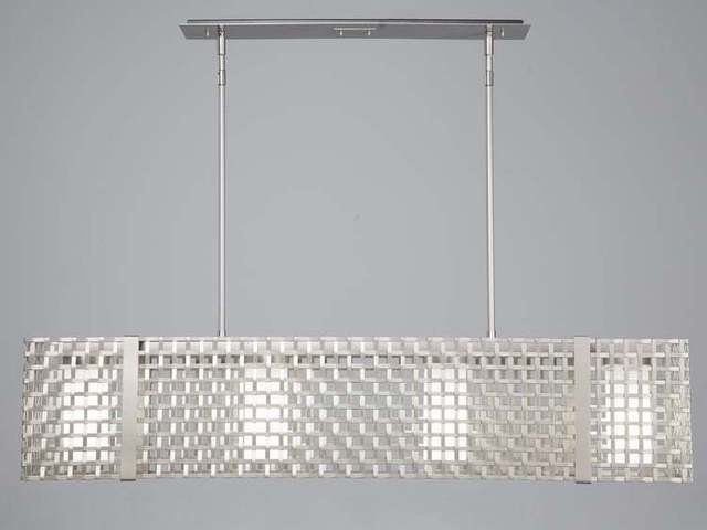"""Picture of Linear Chandelier   Tweed Mesh   45"""""""