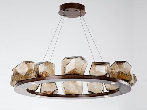 Ring Chandelier | Gem 12