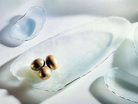 Shells Tiburon Glass Platter