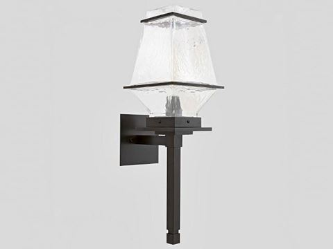 Outdoor Landmark Torch Sconce