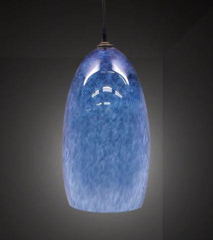 Blown Glass Pendant Light | Steel Blue