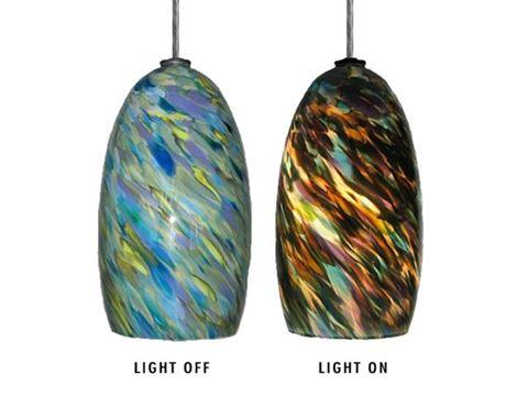 Blown Glass Pendant Light   Spring