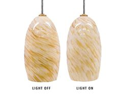 Blown Glass Pendant Light | Natural