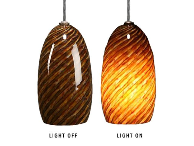 Picture of Blown Glass Pendant Light | Dark Alabaster