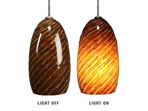 Blown Glass Pendant Light | Dark Alabaster