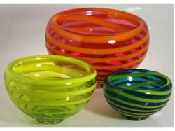 Spiral Bubble Bowls