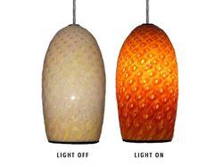 Blown Glass Pendant Light | Honeycomb
