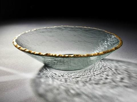 Edgey Round Glass Bowl