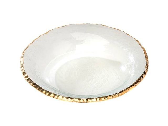 """Picture of Edgey 9"""" Glass Soup Bowl"""