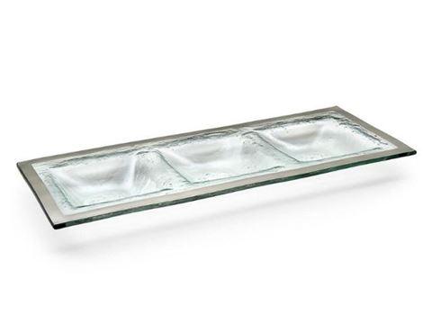 Roman Antique Three-Section Glass Tray