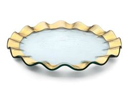 "Ruffle 13"" Glass Buffet Plate"