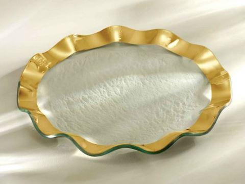 """Ruffle 11"""" Glass Dinner Plate"""